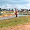 CBR600 in difficulties at Knockhill - top of Duffus Dip - mid 1980s. Note: still appears to have front brake on!
